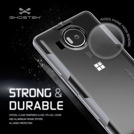 Ghostek Cloak Bumper Microsoft Lumia 950 XL Tough Case - Clear / Grey