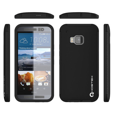 Ghostek Blitz Total Protection HTC One M9 Rubberised Case - Black