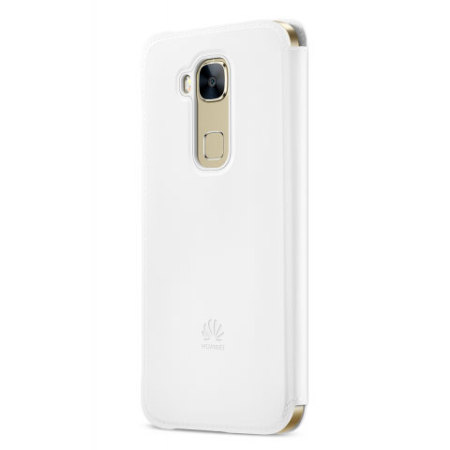 Official Huawei G8 View Flip Case - White