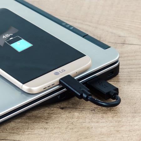 olixar short usb c charging cable with usb 3 0 10cm