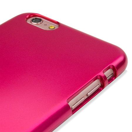 mercury goospery ijelly iphone 6s 6 gel case metallic pink