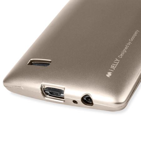 Mercury Goospery iJelly LG G4 Gel Case - Metallic Gold