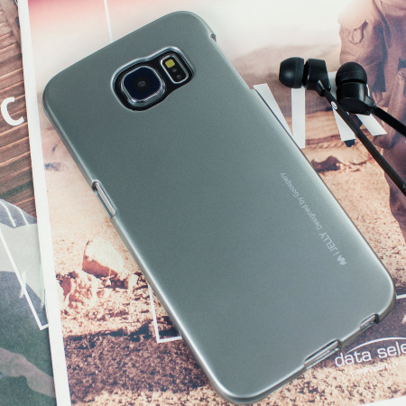 huge selection of 15d08 e98a4 Mercury Goospery iJelly Samsung Galaxy S6 Gel Case - Metallic Grey