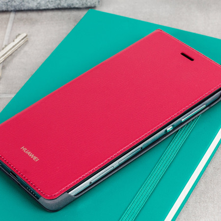 timeless design 9816a ec183 Official Huawei P8 Lite Flip Cover Case - Red