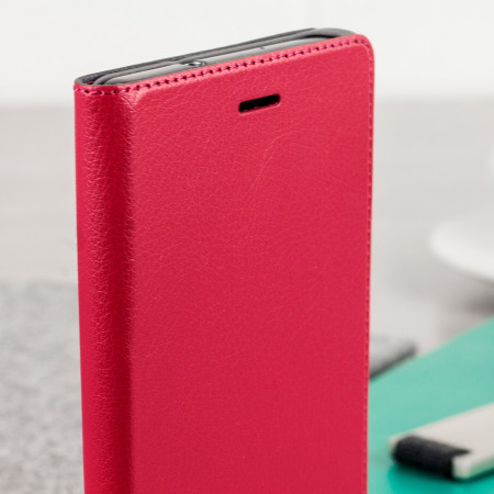 Official Huawei P8 Lite Flip Cover Case - Red