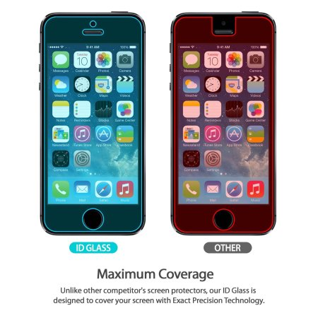 separation shoes 84bbc de549 Rearth Invisible Defender iPhone SE Tempered Glass Screen Protector