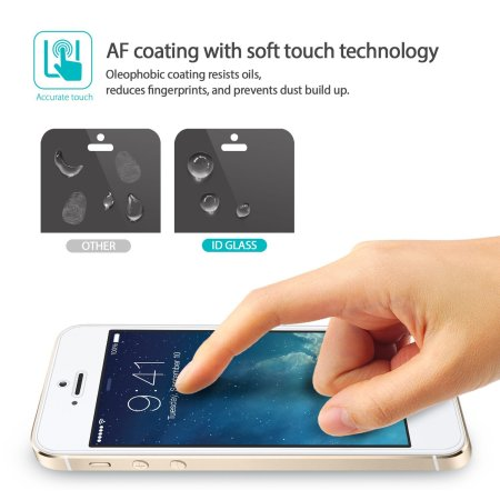 Rearth Invisible Defender iPhone SE Tempered Glass Screen Protector