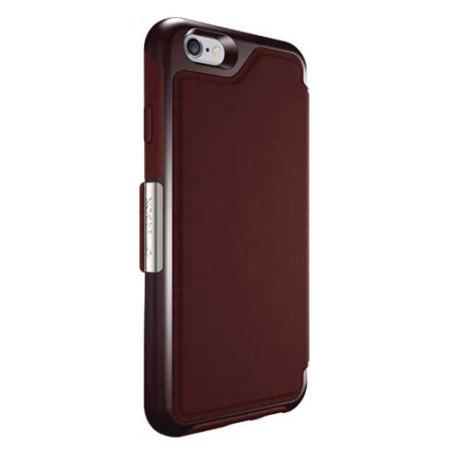 best website 91fa4 f47b2 OtterBox Strada Series iPhone 6S Plus / 6 Plus Leather Case - Maroon