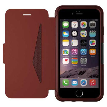 v870 zte v870 otterbox strada series iphone 6s plus 6 plus leather case maroon