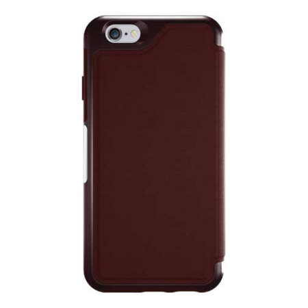 hawkeye otterbox strada series iphone 6s plus 6 plus leather case maroon