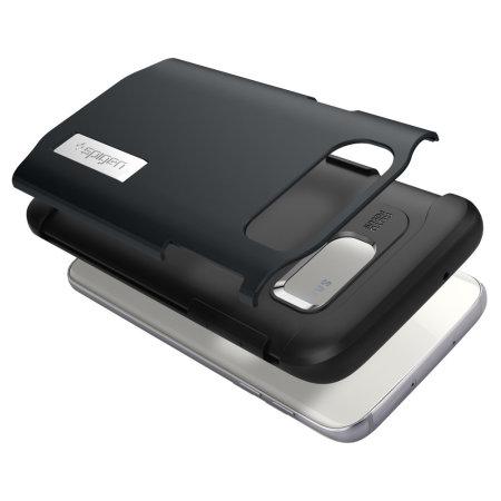 Spigen Slim Armor Samsung Galaxy S7 Edge Case - Metal Slate