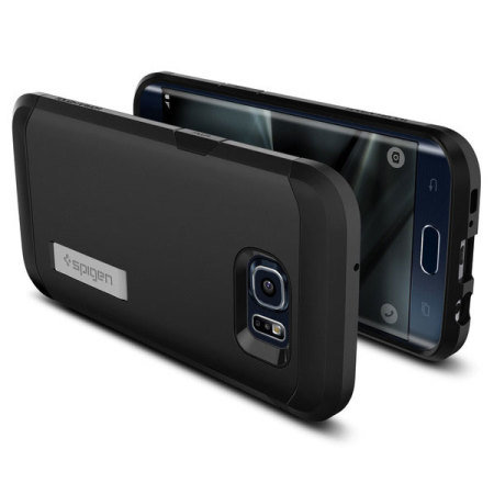 check out 38a7f 46be0 Spigen Tough Armor Samsung Galaxy S7 Edge Case - Black