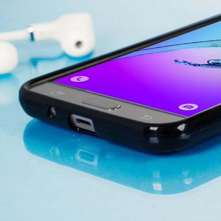 FlexiShield Samsung Galaxy J3 2016 Gel Case - Solid Black