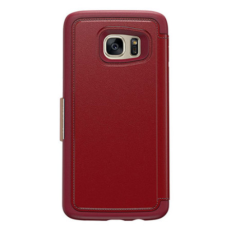 brand new 17bce 832ef OtterBox Strada Series Samsung Galaxy S7 Edge Leather Case - Red