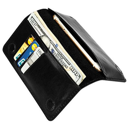 company has jison case genuine leather universal smartphone wallet case black worked