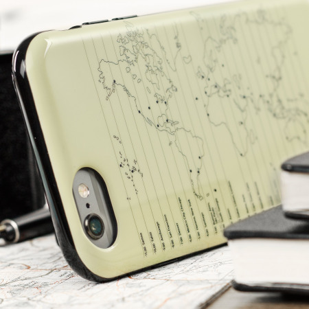 Moleskine travel collection world map iphone 6s 6 hard case gumiabroncs Gallery