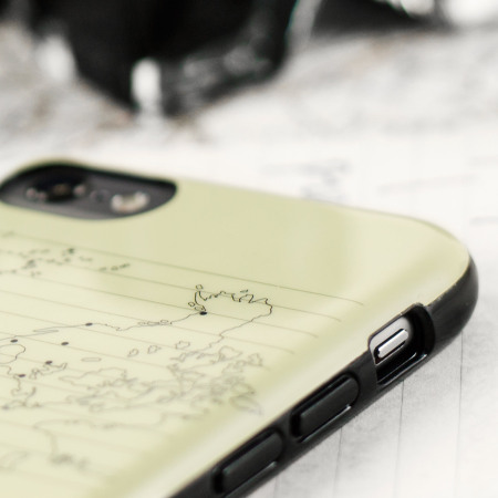 Moleskine Travel Collection World Map iPhone 6S / 6 Hard Case