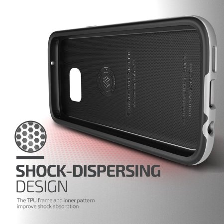 VRS Design High Pro Shield Series Samsung Galaxy S7 Case - Silver