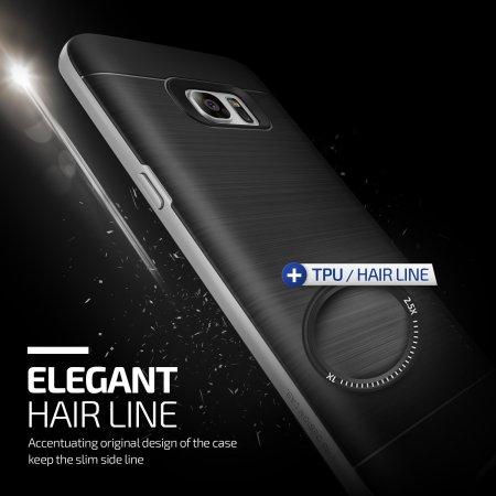 VRS Design High Pro Shield Samsung Galaxy S7 Edge Case - Silver