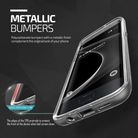 VRS Design Crystal Bumper Samsung Galaxy S7 Edge Case - Steel