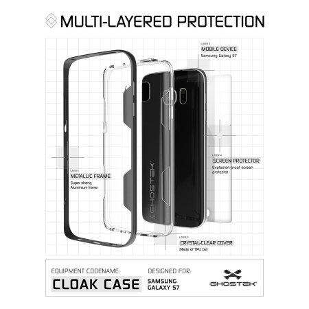 ghostek cloak samsung galaxy s7 tough case clear red have