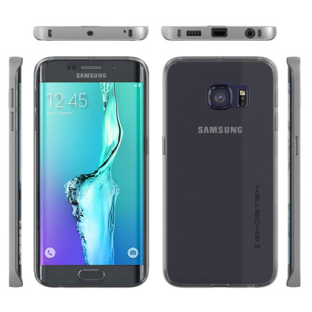 Ghostek Cloak Samsung Galaxy S6 Edge Plus Tough Case - Clear / Silver