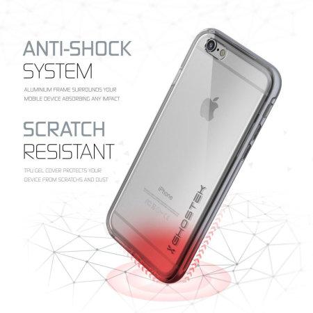ghostek cloak iphone 6s 6 tough case clear silver
