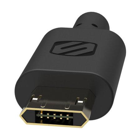 Scosche StrikeDrive Reversible Fast Micro USB Car Charger - Black