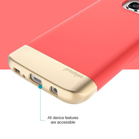 use look prodigee accent samsung galaxy s7 edge case blush gold you