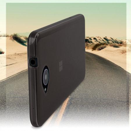 mark flexishield microsoft lumia 650 gel case smoke black the bloatware