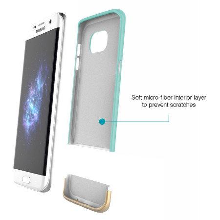 prodigee accent samsung galaxy s7 edge case aqua gold battery life the