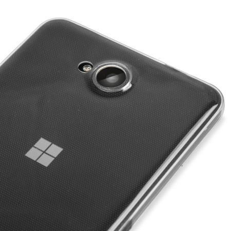 they olixar ultra thin microsoft lumia 650 case 100% clear has directional pad