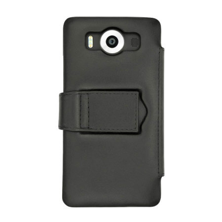 Noreve Tradition B Lumia 950 Genuine Leather Case - Black