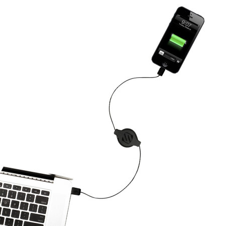 Scosche StrikeLine Retractable Lightning Charge & Sync Cable - Black
