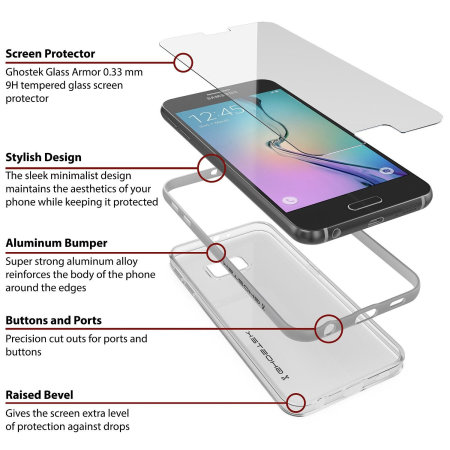 Ghostek Cloak Samsung Galaxy S6 Tough Case - Clear / Silver