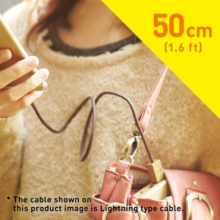 Danbo Light up Lightning & Micro USB 50cm Charge and Sync Cable