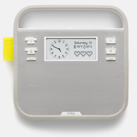new triby connected portable smart speaker grey