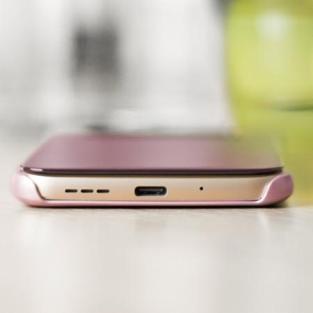 sale retailer 55ed6 c31c4 Official LG G5 Mesh Folio Quick Cover Case - Pink