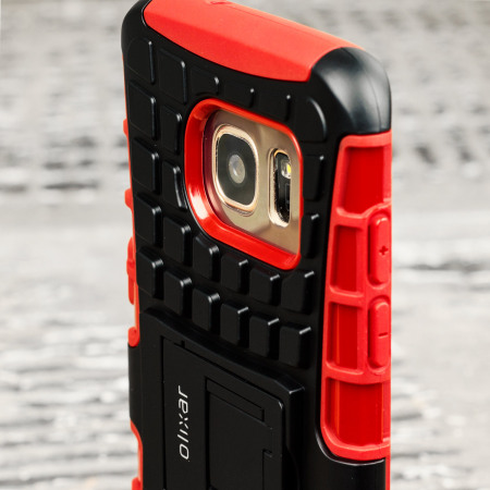 Olixar ArmourDillo Samsung Galaxy S7 Edge Protective Case - Red