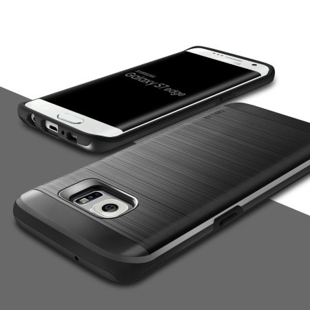 Obliq Slim Meta Samsung Galaxy S7 Edge Case - Titanium Space Grey