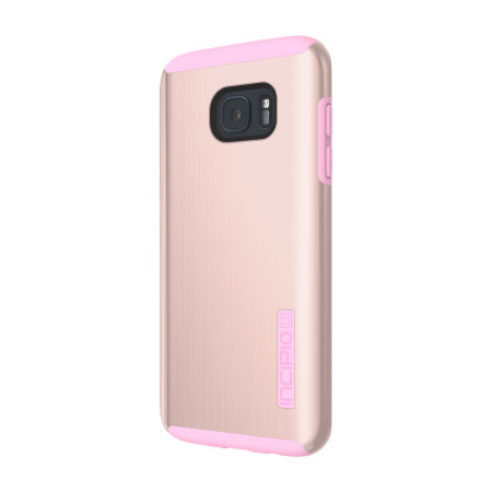 Incipio DualPro Shine Samsung Galaxy S7 Edge Case - Rose Gold / Pink