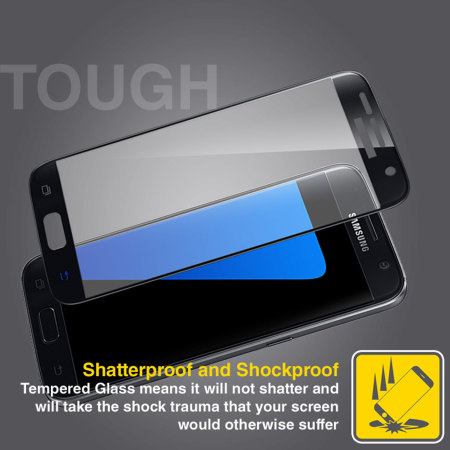 olixar samsung galaxy s7 edge curved glass screen protector black 5