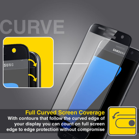 olixar samsung galaxy s7 curved glass screen protector black that without