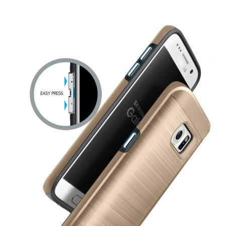 33c7fa34602 Funda Samsung Galaxy S7 Obliq Slim Meta - Oro Champán