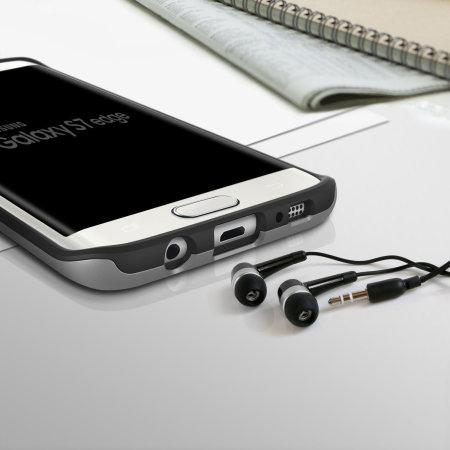 Obliq Slim Meta Samsung Galaxy S7 Edge Deksel - Sølv