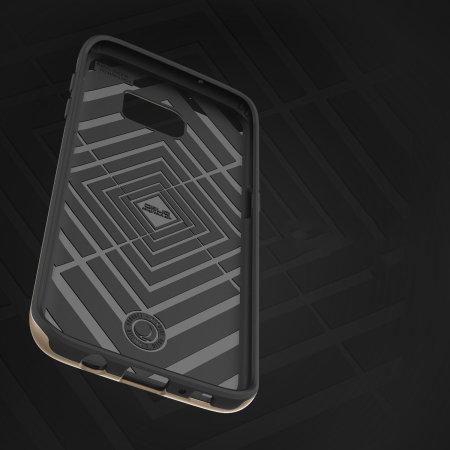 Obliq Slim Meta Samsung Galaxy S7 Edge Case - Champagne Gold