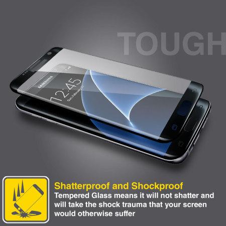 Olixar Samsung Galaxy S7 Edge Curved Glass Screen Protector - Gold