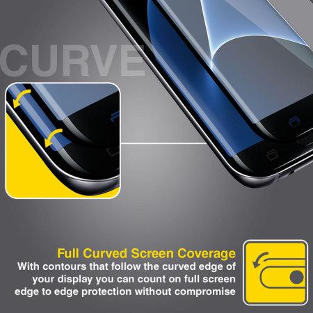 Olixar Samsung Galaxy S7 Edge Curved Glass Screen ...