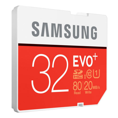 Samsung EVO Plus 32GB MicroSDHC Card - Class 10 with Adapter