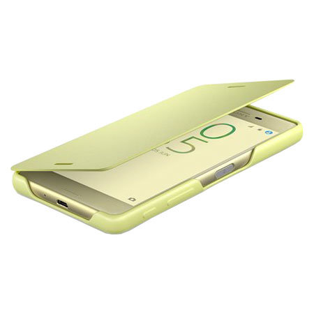 Official Sony Xperia X Style Cover Flip Case - Lime Gold